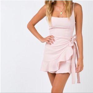 Princess Polly Cottage Hill Mini Dress Blush
